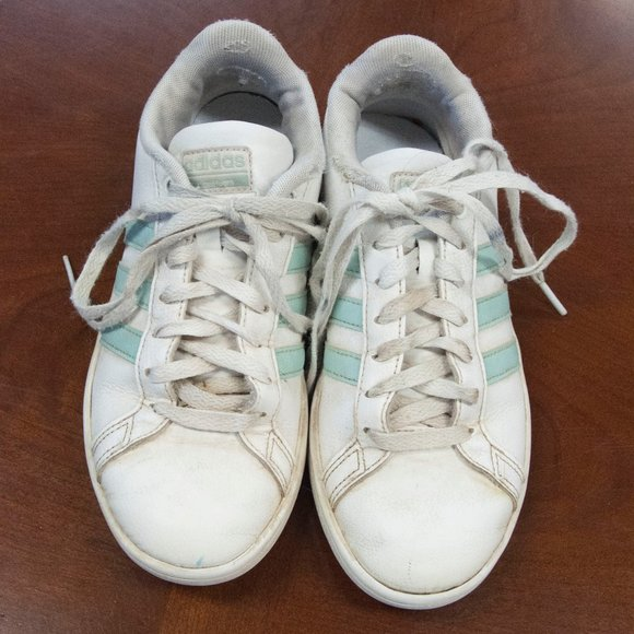 adidas leather tennis shoes